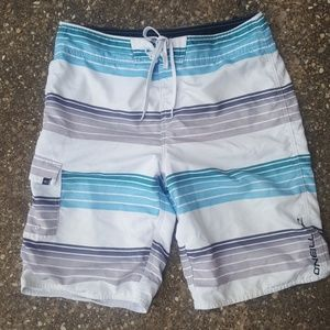 O'Neill Mens Striped Swim Trunks 32 Board Shorts